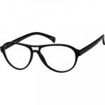 Zenni Aviator Prescription Glasses Black Frame Plastic 236021