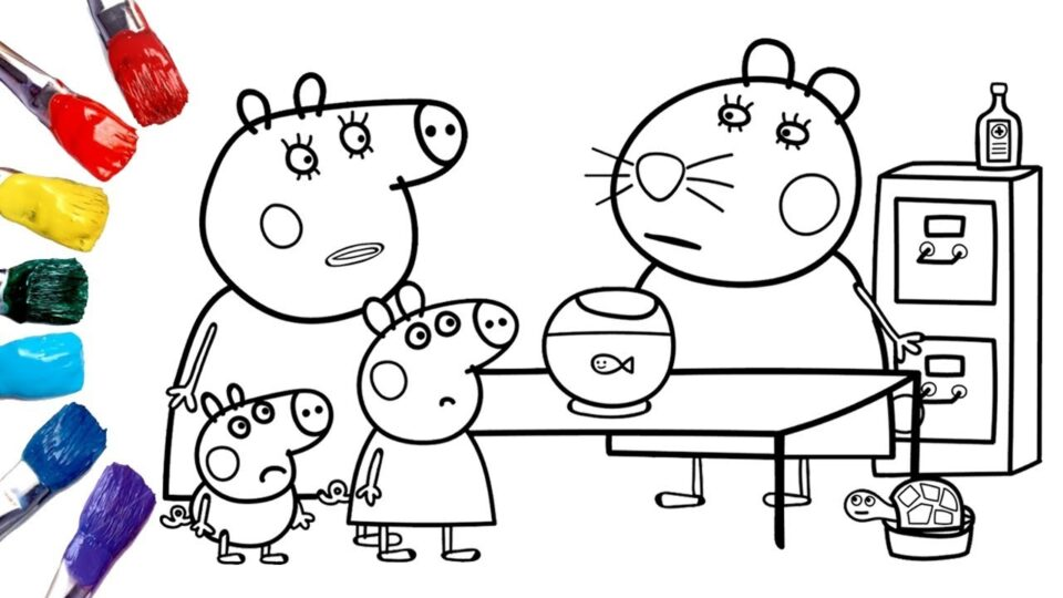 Peppa Pig Goes To The Vet ! | Peppa Pig Coloring Pages ...