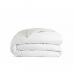 Full/Queen Brushed Cotton Duvet Cover in White and Ivory   Parachute