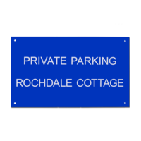 Acrylic House Sign Rectangle 30 x 50cm AC16
