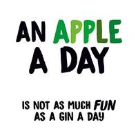 An Apple A Day Funny Birthday Card