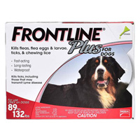 Frontline Plus For Extra Large Dogs Over 89 Lbs Red 12 Months