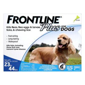 Frontline Plus Medium Dogs 23-44 Lbs Blue 6 Doses