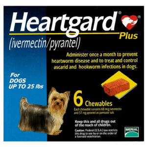 Heartgard Plus Chewables Small Dogs Up To 25lbs Blue 6 Doses