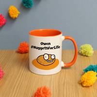 #NuggetsForLife Orange Inside Mug