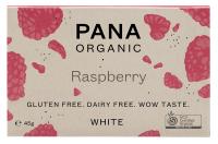 Pana Schokolade - Weiße Schokolade & Himbeere Bio, Rohkost, 45 g