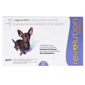 Revolution Very Small Dogs 5.1-10 Lbs Purple 3 Doses