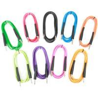 Rockburn 10ft Coloured Guitar Cables Cable Colour Black
