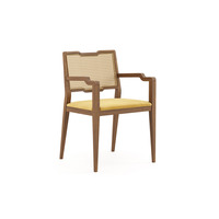 Woody Dining Armchair by Fabiia Golden Cotton Velvet