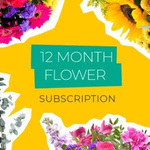 12 Month Flower Subscription