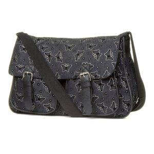 Black Butterfly Cross Body Bag with Multi Pocket