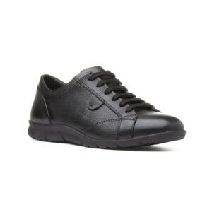 Comfy Steps Womens Black Leather Lace Up Shoe