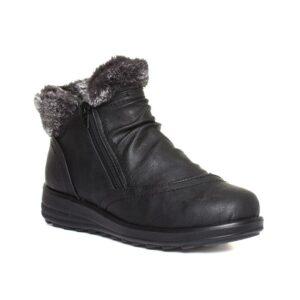 Cushion Walk Marlie Womens Black Wedge Boot