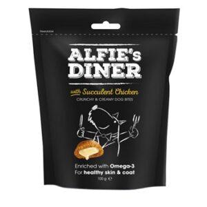 M&C Alfie's Diner Succulent Chicken Dog Treats - 100g