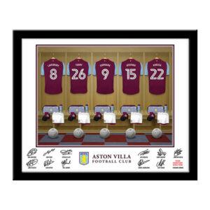 Personalised Aston Villa Dressing Room Framed Print
