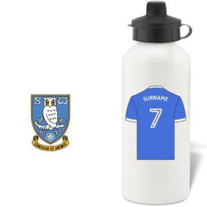 Personalised Sheffield Wednesday FC Aluminium Water Bottle