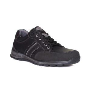 Relife Mens Black Contrast Stitch Lace Up Shoe