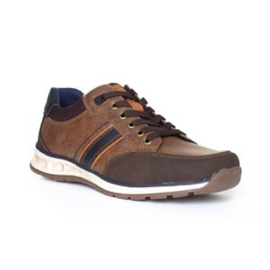 Relife Mens Brown Contrast Lace Up Shoe