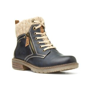 Relife Womens Navy Lace Up Ankle Boot