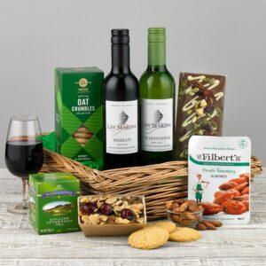 Tray of Treats Food and Wine Hamper