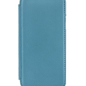 Blake Folio Case with Card Pocket for iPhone XS Max in Tahiti Blue / Gunmetal Electroplated