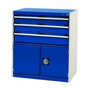 Bott Cubio - Freestanding lockable 2 Drawer + Cupboard Cabinet - 800 x 525 x 525
