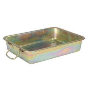16L Metal Drain Pan, 143H x 432W x 331 (mm)