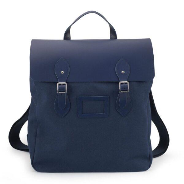 Cambridge Satchel Canvas Steamer Backpack - Navy
