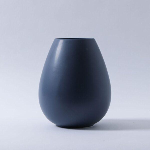 Dusty Blue Teardrop Vase
