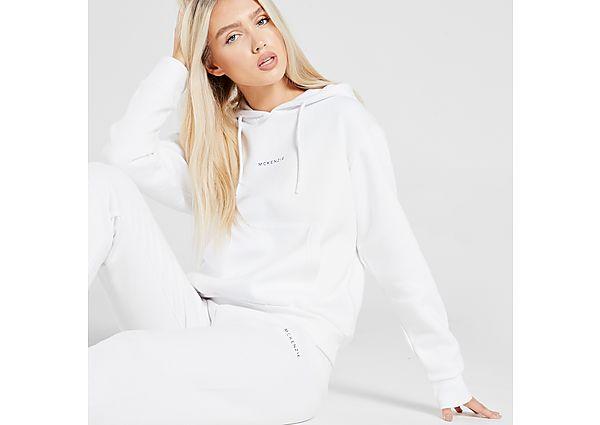 McKenzie Essential Overhead Boyfriend Hoodie - White - Womens