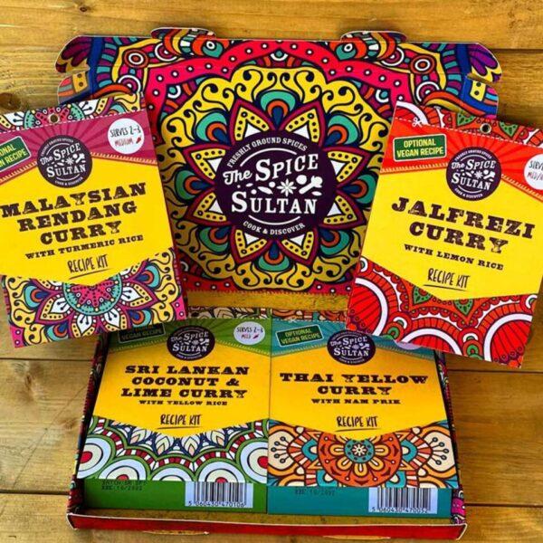 Spice Sultan Curry Discovery Gift Set - 4 Curry Packs