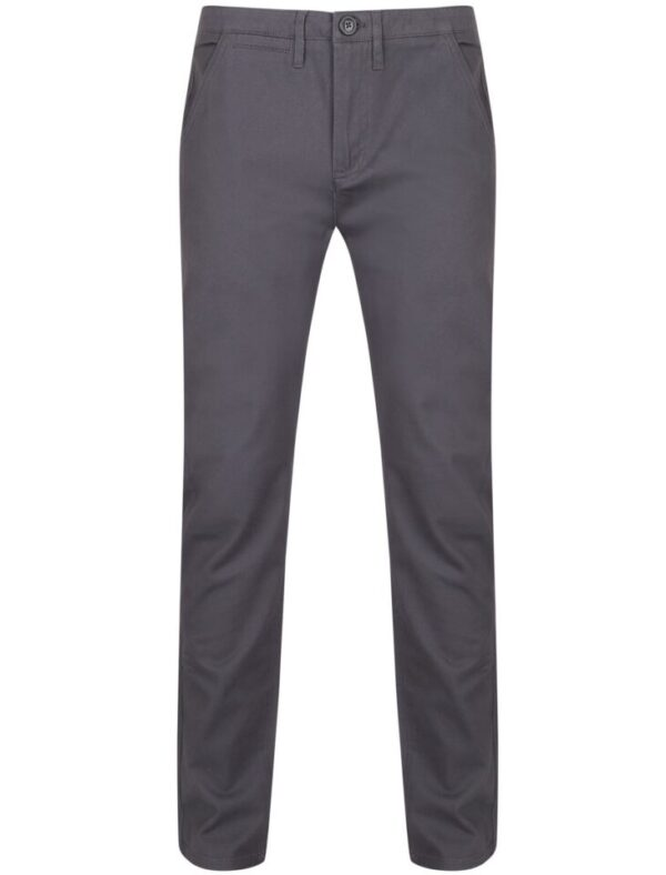 Trousers Horizon Cotton Twill Chinos in Dark Grey - Tokyo Laundry / W30/L33 - Tokyo Laundry