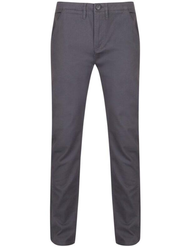 Trousers Horizon Cotton Twill Chinos in Dark Grey - Tokyo Laundry / W32/L31 - Tokyo Laundry