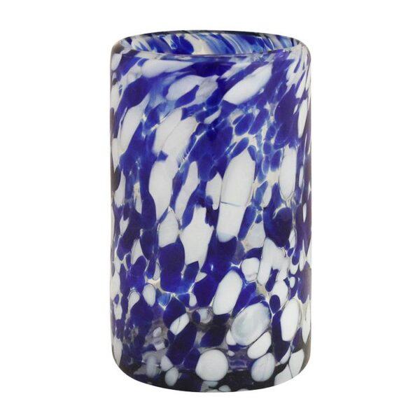 Water Glass - Cobalt Blue & White