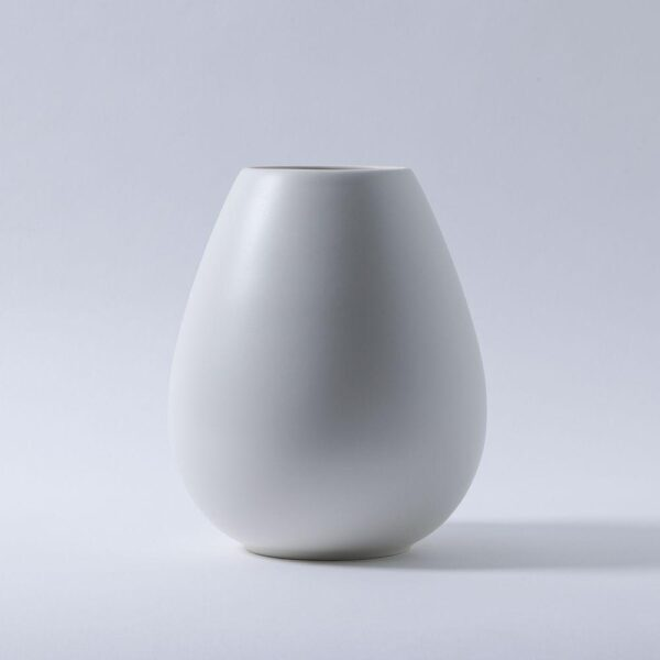 White Teardrop Vase