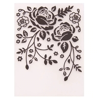 A6 Embossing folder - Trailing Roses