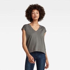 Backprint Loose Top - Grey - Women