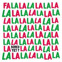 Fa La La La Funny Christmas Card