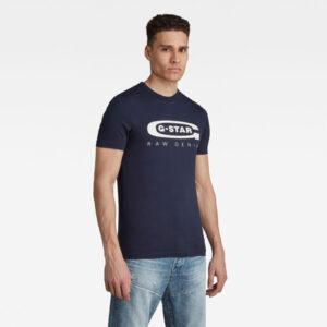 Graphic 4 T-Shirt - Dark blue - Men