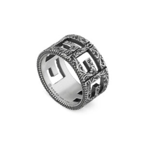 Gucci Ring with Square G Motif in Silver - Ring Size N