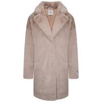 Joela Faux Fur Coat - Shell - 10