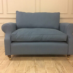 Kendal Loveseat Sofa in Brushed Cotton Chambray