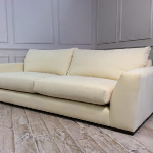 Kingston Grand Sofa in linen cotton Buttermilk fabric