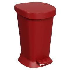 Lixeira com Pedal Square 5 Litros Vermelho Bold