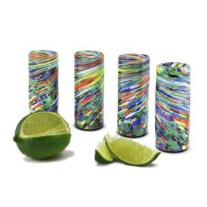 Single Shot Glass - Confetti Swirl
