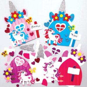 Unicorn Fairy Door Kits (Pack of 4)