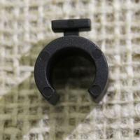 10mm Black Hoop Clips