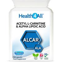 Acetyl L-Carnitine & Alpha Lipoic Acid Capsules (Units: 120 Capsules (V))