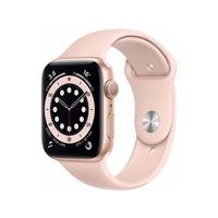Apple Watch Series 6 GPS 44mm Gold Aluminium Case Pink Sport Band - M00E3B/A