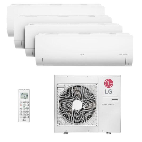 Ar Condicionado Multi Quadri Split Inverter LG 3x9000+1x12000 Btus HW Quente/Frio 220V 1F A4UW30GFA2.AWGZBRZ